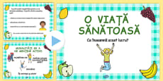 EYFS Healthy Eating and Living PowerPoint Romanian