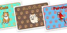 Editable Class Group Signs (Pets)