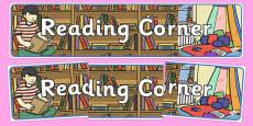 Reading Corner Display Banner