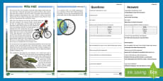 KS2 Mike Hall Differentiated Reading Comprehension Activity