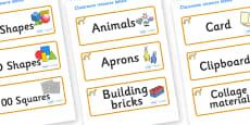 Cheetah Themed Editable Classroom Resource Labels