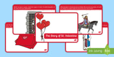 The Story of Saint Valentine Sequencing Cards