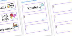 Selkie Themed Editable Additional Resource Labels