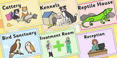 Animal Rescue Centre Role Play Signs