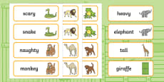 Word Cards to Support Teaching on Dear Zoo