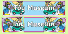 Toy Museum Display Banner