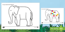 Elephant Outline Computing Activity to Support Teaching on Elmer