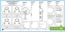 Reading Comprehension Six Key Words Activity Sheet Pack Romanian Translation