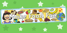 Make Food Fair Display Banner