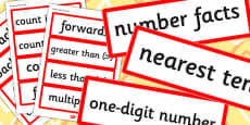 Grade 3 2014 Curriculum Maths Number and Place Value Vocabulary Cards