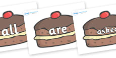 Tricky Words on Chocolate Buns