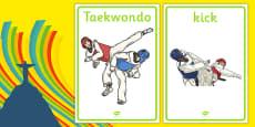 The Olympics Taekwondo Display Posters