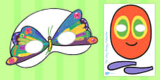 Australia - Role-Play Masks to Support Teaching on The Very Hungry Caterpillar