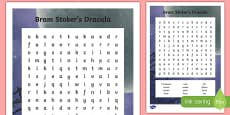 Bram Stoker's Dracula Word Search
