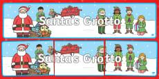 Santa's Grotto Display Banner