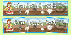 Charlotte's Web Display Banner