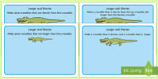 Crocodile Longer and Shorter Playdough Mats