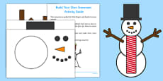 Build Your Own Snowman Activity Pack