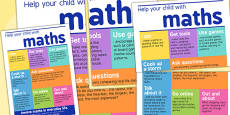 Help Your Child With Maths Print Out Poster