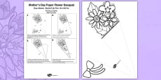 Mother's Day Paper Flower Bouquet Romanian Translation