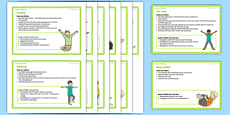 Foundation PE (Reception) - Gymnastics - Jumping Jacks and Rock 'n' Roll Teacher Support Cards Pack