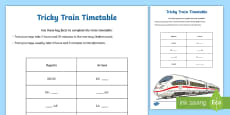 * NEW * Tricky Timetable Time Activity Sheet