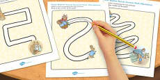 The Tale of Peter Rabbit Pencil Control Path Activity Sheets