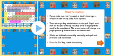 Houses and Homes Interactive Wordsearch PowerPoint
