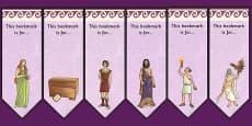 Pandora's Box Ancient Greek Myth Editable Bookmarks