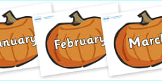 Months of the Year on Pumpkins