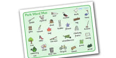 Park Word Mat to Support Teaching on Percy the Park Keeper
