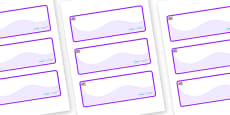 Oyster Themed Editable Drawer-Peg-Name Labels (Colourful)