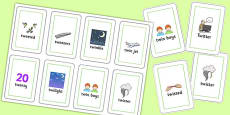 Two Syllable TW Flash Cards