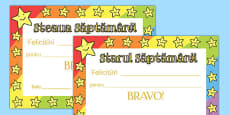 Star of the Week Romanian