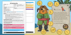 Number Coin Treasure Hunt EYFS Adult Input Plan Template and Resource Pack