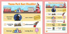 Theme Park Hunt Checklist