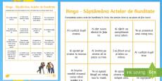 Bingo cu tema: Săptămâna actelor de bunătate