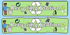 Recycling Station Display Banner