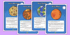 Space Travel Agents Role Play Destination Posters Arabic Translation