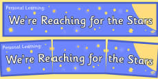 Personal Learning We're Reaching for the Stars Banner