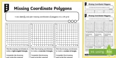 Missing Coordinate Polygons Differentiated Activity Sheets