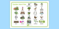 Garden Word Mat