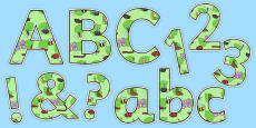 Display Lettering & Symbols (Minibeasts)