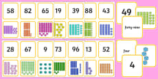 Year 2 Maths Mastery Place Value Matching Cards