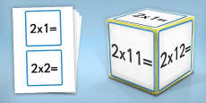 Giant Foam Dice Squares 2 Times Tables