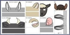Nativity Animal Ears Headbands Resource Pack