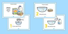 Pancake Recipe Sheets Polish