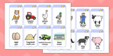 Farm Flashcards Polish Translation