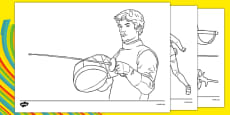 The Olympics Fencing Colouring Sheets