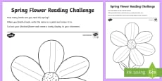 * NEW * Spring Flower Reading Challenge Activity Sheet